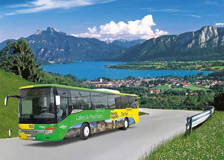 Hop on Hop off Lakes and Mountains Salzburg Sightseeingtours