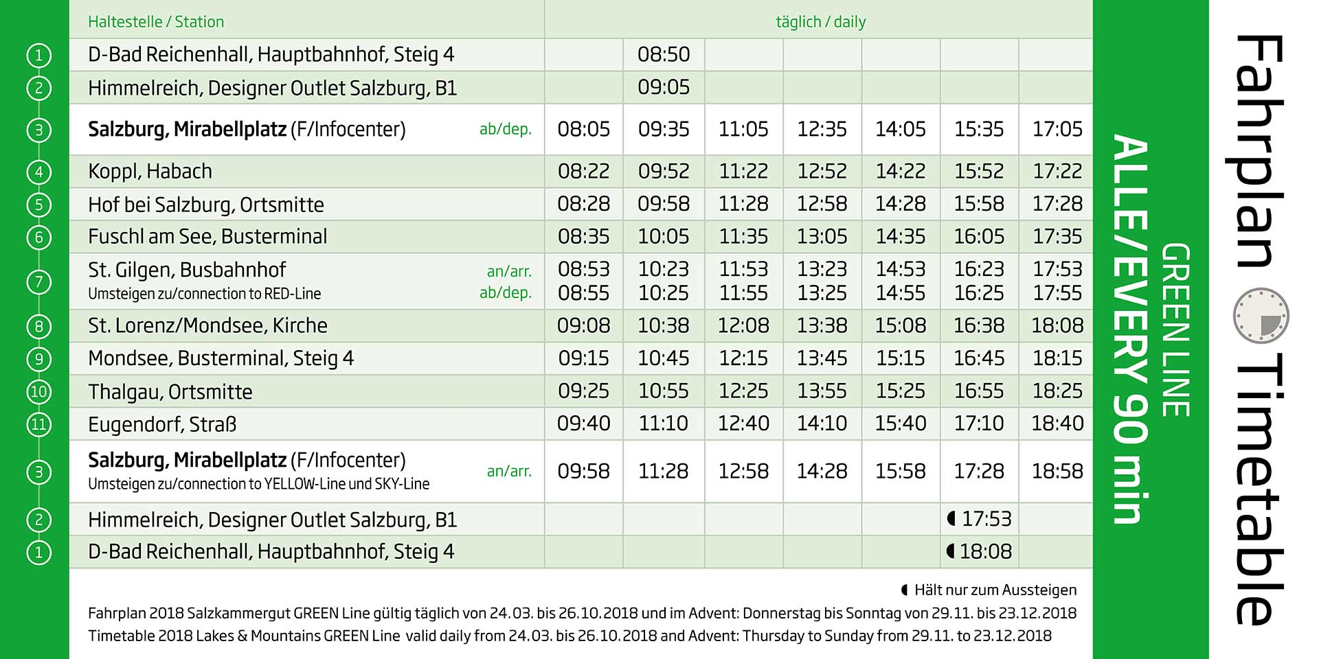 Cable Tours Bus Schedule