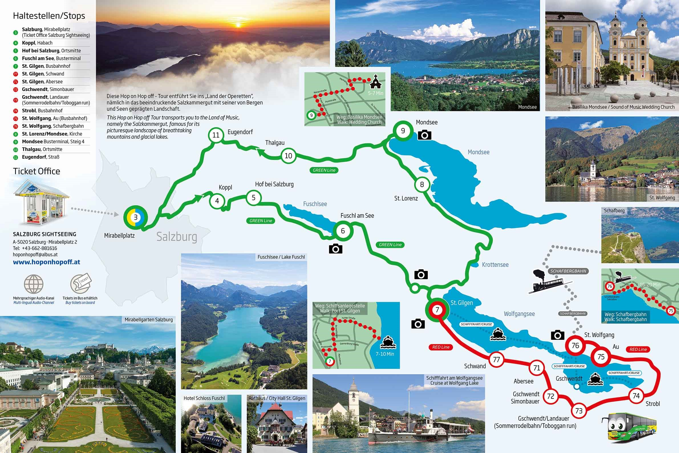 Hop on Hop off Lakes and Mountains - Salzburg Sightseeingtours